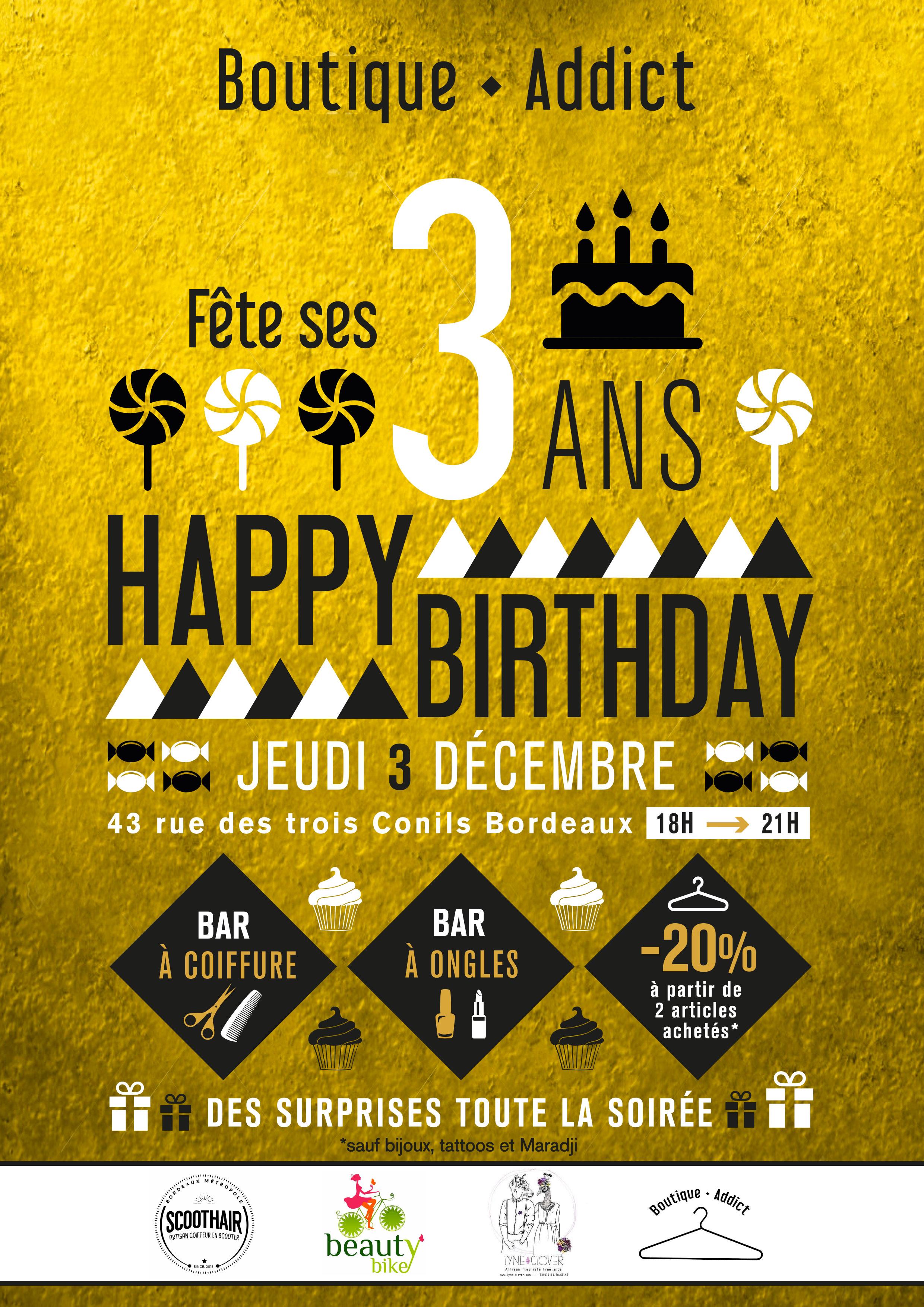 Boutique Addict fête ses 3 ans, le 3 décembre !!! - Mode Motion