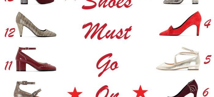 Shopping chaussures de Noël