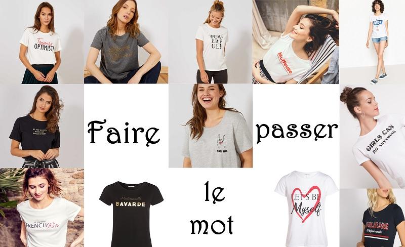 tee-shirt message femme